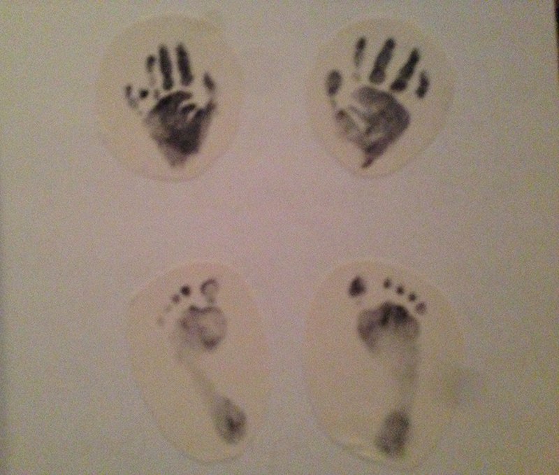 Olive's Hand and Foot Prints